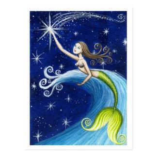 Shooting Star Mermaid Postcard
