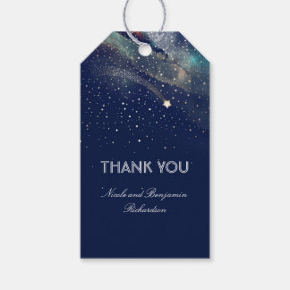 Shooting Star Navy and Gold Night Wedding Gift Tags