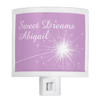 Shooting Star Night Light in purple