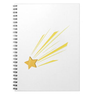 Shooting Star Spiral Note Books