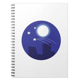 Shooting Star Spiral Notebooks