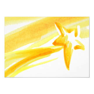 Shooting Star Open Greeting Card