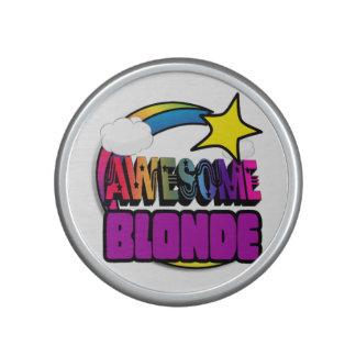 Shooting Star Rainbow Awesome Blonde Bluetooth Speaker