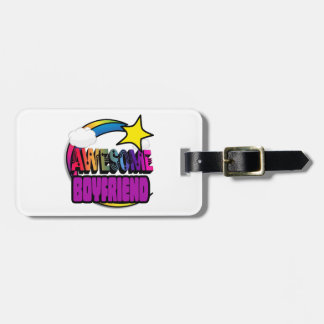 Shooting Star Rainbow Awesome Boyfriend Tags For Luggage