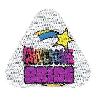 Shooting Star Rainbow Awesome Bride Speaker