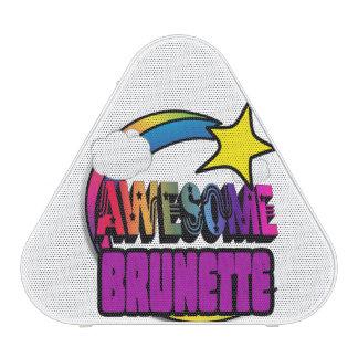 Shooting Star Rainbow Awesome Brunette Bluetooth Speaker