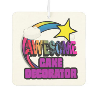 Shooting Star Rainbow Awesome Cake Decorator Air Freshener