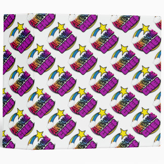 Shooting Star Rainbow Awesome Chef Vinyl Binder