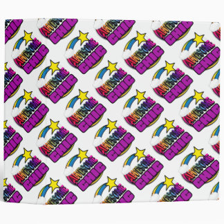 Shooting Star Rainbow Awesome Chic Vinyl Binder