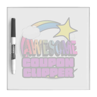 Shooting Star Rainbow Awesome Coupon Clipper Dry-Erase Whiteboard
