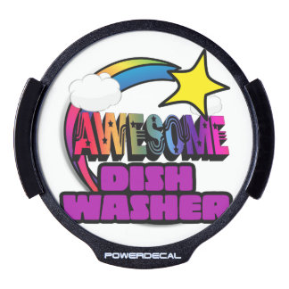 Shooting Star Rainbow Awesome Dish Washer LED Car Decal