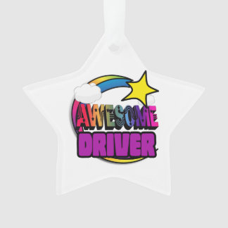 Shooting Star Rainbow Awesome Driver Ornament