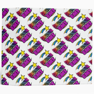 Shooting Star Rainbow Awesome EMT 3 Ring Binder