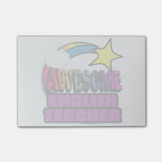 Shooting Star Rainbow Awesome English Teacher Post-it Notes
