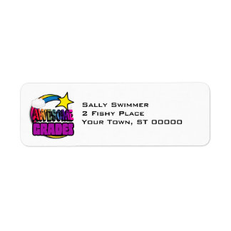 Shooting Star Rainbow Awesome Grades Return Address Label