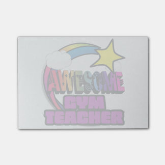 Shooting Star Rainbow Awesome Gym Teacher Post-it Notes