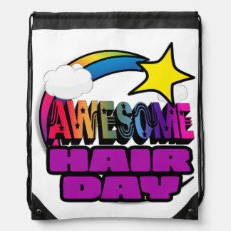Shooting Star Rainbow Awesome Hair Day Backpacks