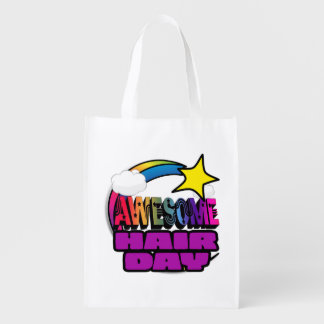Shooting Star Rainbow Awesome Hair Day Market Totes