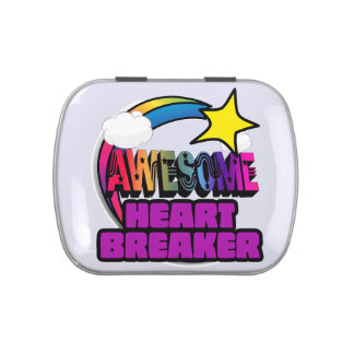 Shooting Star Rainbow Awesome Heart Breaker Candy Tin