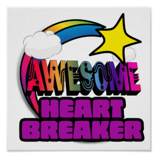 Shooting Star Rainbow Awesome Heart Breaker Print
