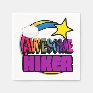 Shooting Star Rainbow Awesome Hiker Disposable Napkins
