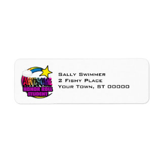 Shooting Star Rainbow Awesome Honor Roll Student Return Address Label