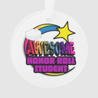 Shooting Star Rainbow Awesome Honor Roll Student Ornament