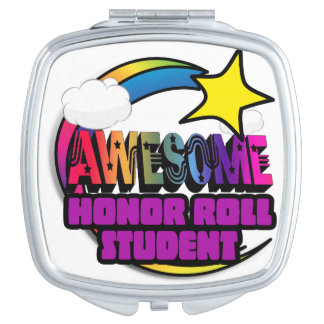 Shooting Star Rainbow Awesome Honor Roll Student Vanity Mirror
