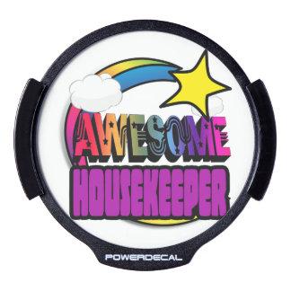 Shooting Star Rainbow Awesome Housekeeper LED Car Window Decal