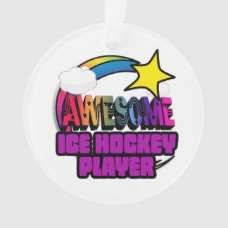 Shooting Star Rainbow Awesome Ice Hockey Player