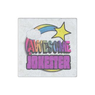 Shooting Star Rainbow Awesome Jokester Stone Magnet