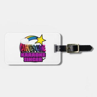 Shooting Star Rainbow Awesome Karaoke Singer Bag Tags