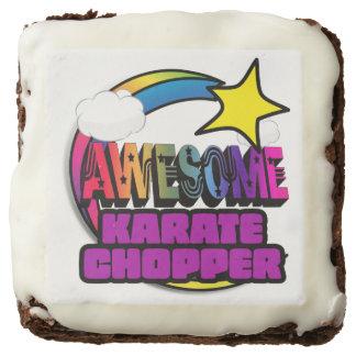 Shooting Star Rainbow Awesome Karate Chopper Chocolate Brownie