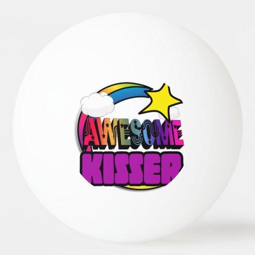 Shooting Star Rainbow Awesome Kisser Ping Pong Ball