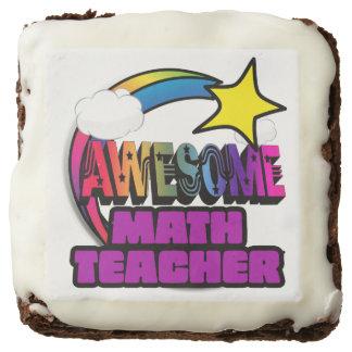 Shooting Star Rainbow Awesome Math Teacher Brownie