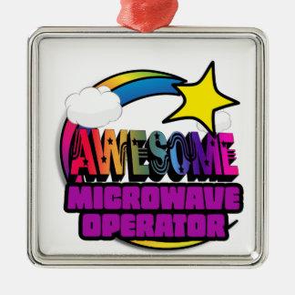 Shooting Star Rainbow Awesome Microwave Operator Christmas Tree Ornament