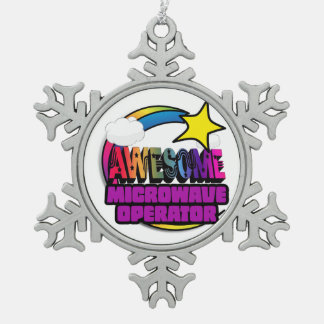 Shooting Star Rainbow Awesome Microwave Operator Ornaments