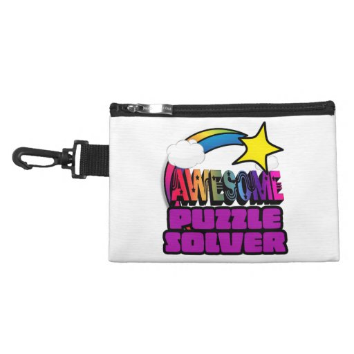 Shooting Star Rainbow Awesome Puzzle Solver Accessory Bags