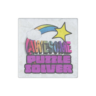 Shooting Star Rainbow Awesome Puzzle Solver Stone Magnet