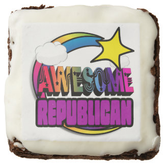 Shooting Star Rainbow Awesome Republican Brownie