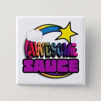 Shooting Star Rainbow Awesome Sauce Pinback Button