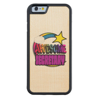 Shooting Star Rainbow Awesome Secretary Carved® Maple iPhone 6 Bumper