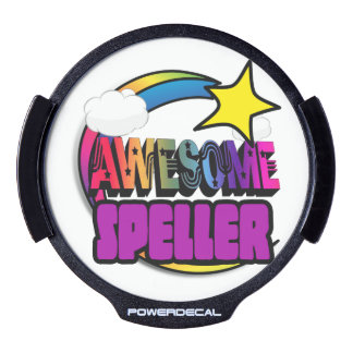 Shooting Star Rainbow Awesome Speller LED Car Window Decal