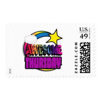 Shooting Star Rainbow Awesome Thursday Postage