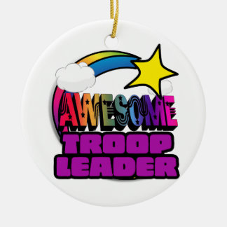 Shooting Star Rainbow Awesome Troop Leader Ceramic Ornament