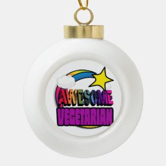 Shooting Star Rainbow Awesome Vegetarian Ceramic Ball Christmas Ornament