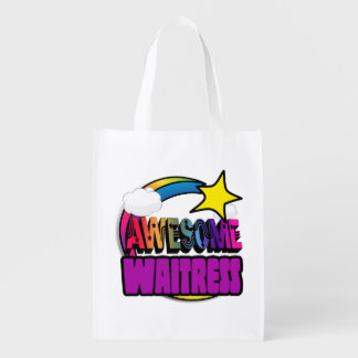 Shooting Star Rainbow Awesome Waitress Grocery Bag