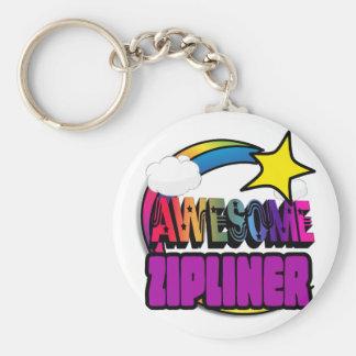 Shooting Star Rainbow Awesome Zipliner Keychains