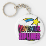 Shooting Star Rainbow Awesome Zipliner Keychains