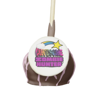 Shooting Star Rainbow Awesome Zombie Hunter Cake Pops